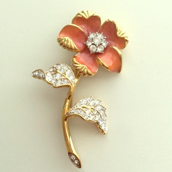 7f2d74c8e11 Nolan Miller Jewelry   Vintage Enamel Flower Pin   Poshmark